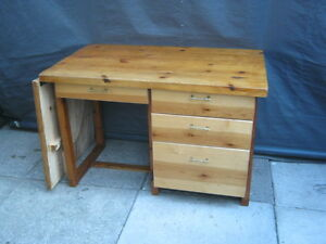 Solid Pine Sewing Bench / Table With Extension