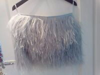 Asos Light Blue/grey feather skirt size 10