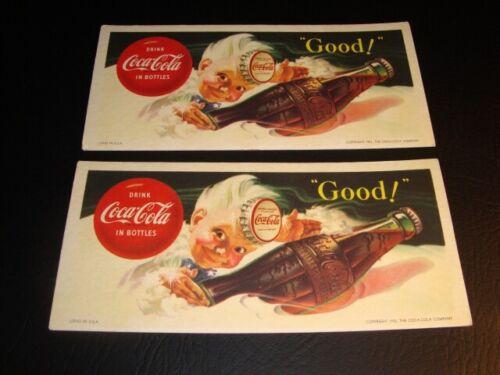 1953 Pair Coca-Cola Blotters