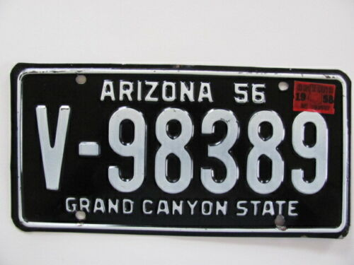 1956 ARIZONA LICENSE PLATE, VINTAGE ORIGINAL W/