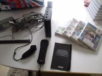 Nintendo Wii with games leads controller etc