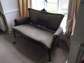Antique sofa and two matching chairs all needing reupholstering