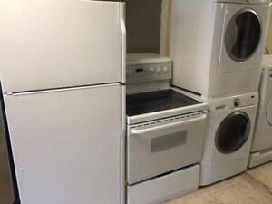 4 ELECTROMENAGER FRIGO CUISINI??RE Laveuse Secheuse Frontale Frontload Fridge Stove Washer Dryer