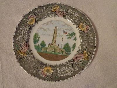 SOUVENIR PLATE LINCOLNS LINCOLN TOMB MEMORIAL ADAMS STAFFORDSHIRE ENGLAND