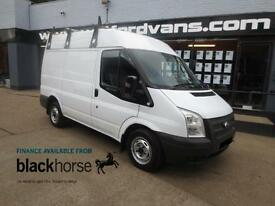 2012 Ford Transit T260 2.2TDCi 100ps SWB Medium Roof +Roof Bars Diesel white Man