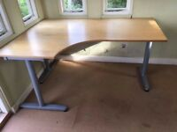 Office Corner Desk Ikea Galant with T legs - left & right hand