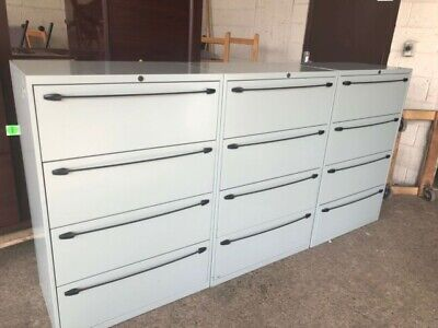4dr 30w X 18d X 45h Lateral File Cabinet By Office Specialty W Lock Key