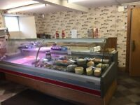 Arneg 3m refrigerated display unit - used but works well no frost comes with display shelving.
