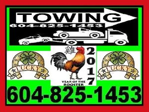 TOWING*Lucky TOW TRUCK(604)825-1453 Richmond,Ladner,Vancvr,SRY