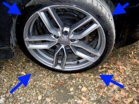 "Audi S3 19"" alloy wheels 8V TT MK2 RS Continental 245 235 35 19inch tyres alloys"
