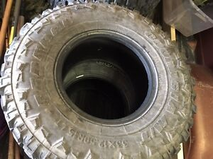 Federal Couragia M/T 33x12.5R15 - Set of 4 Tires- VIRTUALLY NEW!