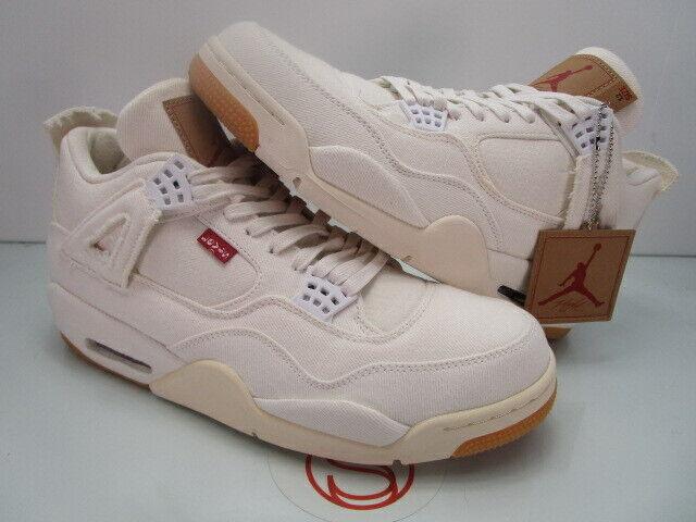 Nike Air Jordan IV 4 Retro WHITE LEVIS TAG 12