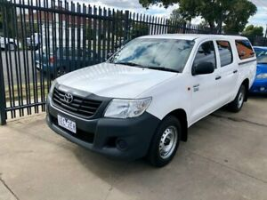 2015 Toyota Hilux TGN16R MY14 Workmate Double Cab 4x2 White 4 Speed Automatic Utility Maidstone Maribyrnong Area Preview