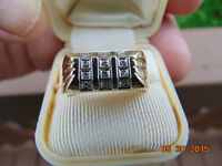 10kt Gold  (Stamped) Gents Tapered and Polished dress ring