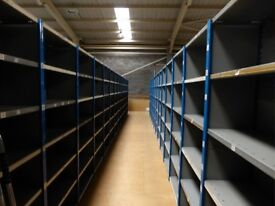 30 bays DEXION impex industrial shelving 2.4 m high. ( storage , pallet racking )