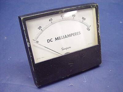 Simpson Rugged Seal Style Analog Panel Meter Dc Milliammeter Milliamperes 3324