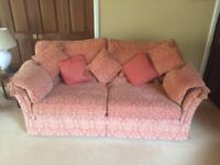 3 Piece Suite and Footstool / Storage