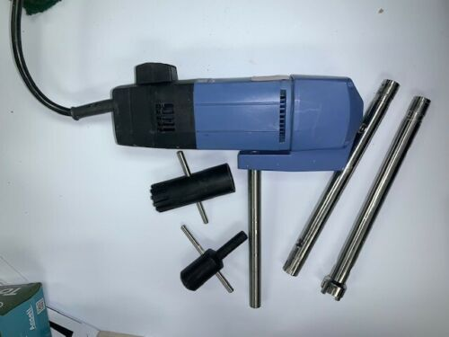 Lot of 1IKA T25 Basic S1 Ultra-Turrax Homogenizer Mixer w/ 2 Dispersing Elements