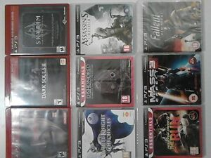 9 PS3 games, excellent condition