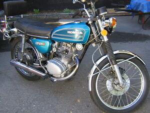moto Honda 125cc antique