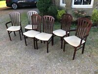 6 Dining chairs, £50 for the lot.