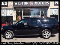 2008 Chevrolet Suburban 1500 LTZ*4X4*LEATHER*SUNROOF*DVD*