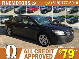2012 CHEVROLET MALIBU LS * EXTRA CLEAN * LOW KM * LOANS FOR ALL