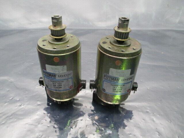 2 Pittman 14202D764-R1, 19.1 VDC, 500 CPR, Servo Motor, 100401