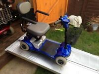 Portable Days Strider Mobility Scooter Lightweight Great Condition 13 Stone Capacity