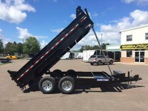 "NEW 2019 SURE-TRAC 82"" x 14' HD DUMP TRAILER"