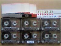 JL CHEAPEST ONLINE 6x TDK D 120 D120 CASSETTE TAPES 1988-1989 W/ CARDS CASES LABELS ALL VGC