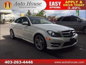 2012 Mercedes C350 COUPE NAV, BCAM, 4MATIC, 90 DAY NO PYMT