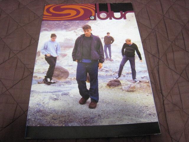 Blur 1997 Fold Poster Style Japan Tour Concert Program Damon Albarn Graham Coxo