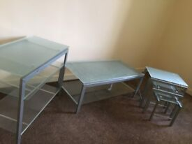 Set of Glass Tables for Sale