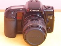 Canon EOS 10 SLR with 28-80mm Canon zoom lens. Hoya polarising and filter and Camera bag included