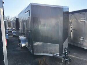 7x14 Cargo Trailer, Aluminum, 7' Tall Fits Side By Sides