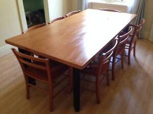 Large and solid wooden dining table Strathfield Strathfield Area Preview
