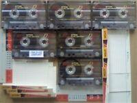 JL CHEAPEST ONLINE 6x TDK D 120 D120 CASSETTE TAPES 1997-2001 W/ CARDS CASES LABELS ALL VGC