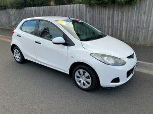 2007 Mazda 2 DE Neo White 4 Speed Automatic Hatchback North Hobart Hobart City Preview