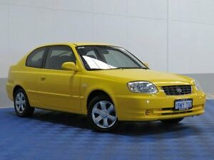 2005 Hyundai Accent LS 1.6 Yellow 4 Speed Automatic Hatchback Jandakot Cockburn Area Preview