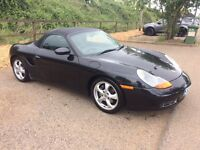 2002 Porsche Boxster black factory upgrades