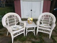 Wicker Chairs & Table