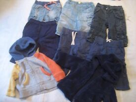 3-6 MONTHS. 6 PAIRS OF JEANS + 2 HOODIES ONLY 94p EACH. BABY GAP, NEXT, M & S, JOHN LEWIS (BAG 18)