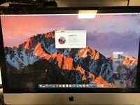 """Apple iMac 27"""" Intel i3 3.2Ghz HUGE 16GB RAM & 1TB HDD Latest OSX Sierra ONLY £589.99"""