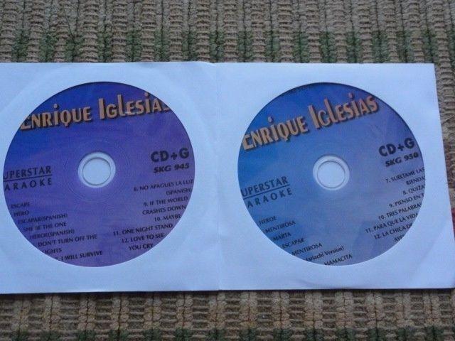 2 CDG ENRIQUE IGLESIAS KARAOKE DISCS SUPERSTAR HITS CD+G SPANISH ESCAPE NEW