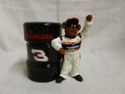 Dale Earnhardt Sr Boyds Bear Nascar Racing Pencil Holder Figurine 919338