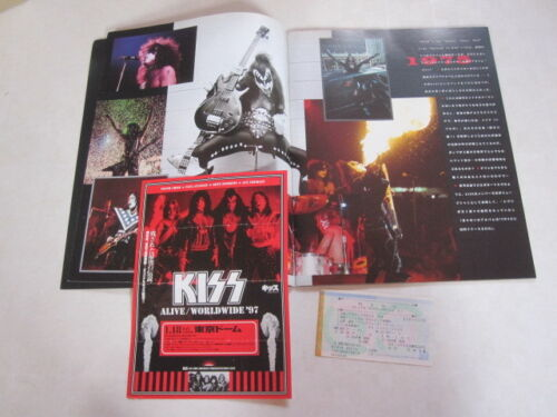 KISS world tour  program with Half ticket Japan