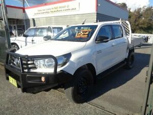 2016 Toyota Hilux GUN126R SR (4x4) White 6 Speed Automatic Dual Cab Chassis Sandgate Newcastle Area Preview