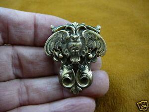 (B-BIRD-451) Screech OWL flying wings night owls brass pin pendant