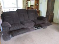 Mayerling, Chocolate Brown, 3 seater, Two Recliner Sofa made by Steinhoff UK Ltd